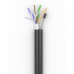 Витая пара кабель Step4Net FTP самонесущий кат 5е, PE, CCA, 305м