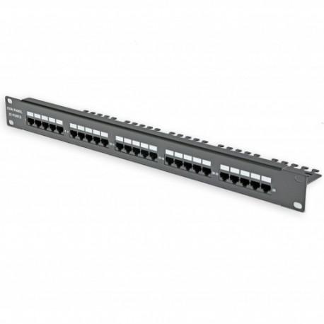 Патч-панель 25 портов, 1U, ISDN, черная
