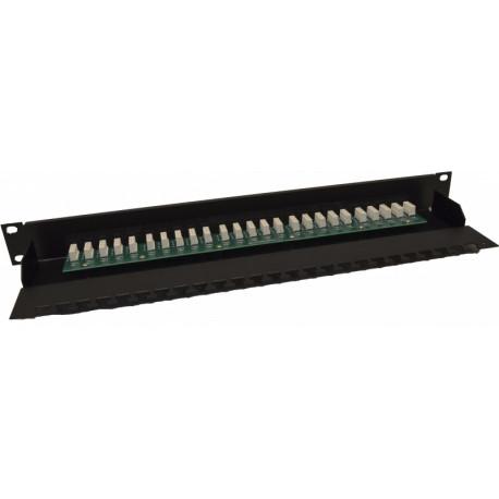 Патч-панель на 25 портов, 1U, ISDN, чёрная, Kingda