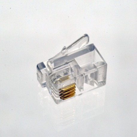 Коннектор телефонный RJ11, 4p4c