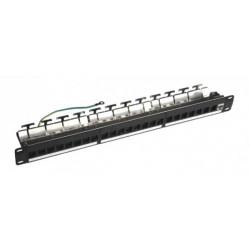 """Модульная патч-панель 24-порта FTP, 19"""" 1U HD c менеджментом кабеля STP-2"""