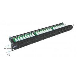 """Патч-панель 48 портов UTP 1U 19"""" кат.5е с держателем кабеля"""