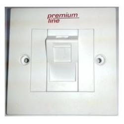 Лицевая панель Premium Line  1п Euro II 45° со шторками, 86х86 мм