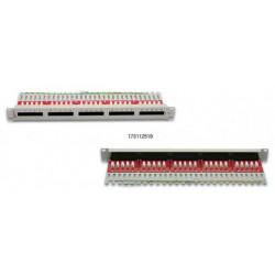 """Premium Line Патч-панель телефонная ISDN (Кат.3) 90°, RJ-45, Dual Type IDC, 50 портов 19"""" 1U"""