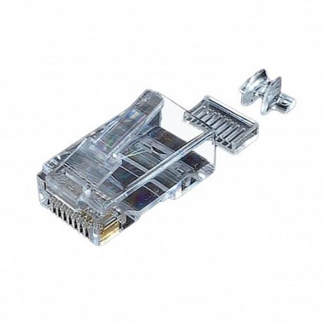 Коннектор UTP кат. 6, со вставкой + колпачок