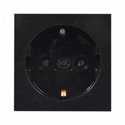 Модуль электрический одинарный черный MK Electric, 220В, 50х50 мм