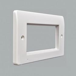 Рамка MK Electric для установки 2 модулей 50х50, 146x86 мм, белая