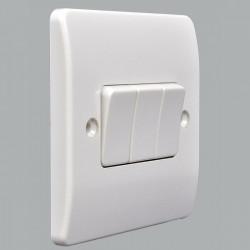Выключатель MK Electric Logic Plus 3-клавишный, 86x86мм