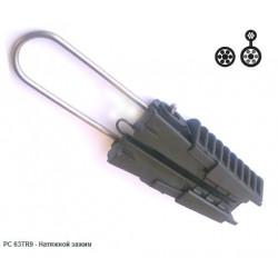 Siсame Зажим натяжной PC 63TR9 для кабеля с тросом