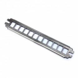 """Патч-панель 10"""" под 12 модулей KeyStone (slim), 1U нержавеющая сталь"""