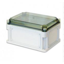 Бокс пластиковый уличный IP 67 600х300х160 мм прозрачная крышка