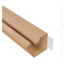 ДКС Мини короб 10x10мм самоклеющийся, 2м коричневый