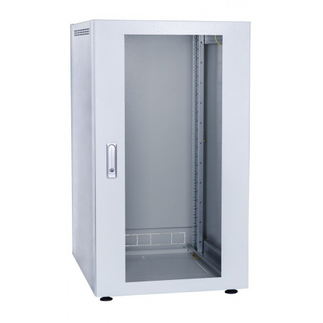 Шкаф напольный 42U 600x600 Дверь стекло