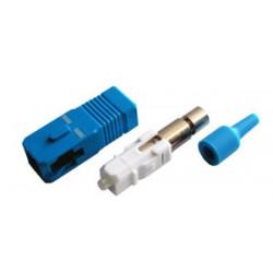 Коннектор оптический (собранный) SC simplex SM (PC), 3мм, черный