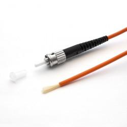 Коннектор оптический (собранный) ST simplex MM (PC), 0,9мм
