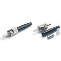 Коннектор оптический (собранный) ST simplex SM (PC), 0,9мм