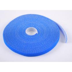 Стяжка-липучка, 12 мм x 10 м, моток, синяя, EPNew