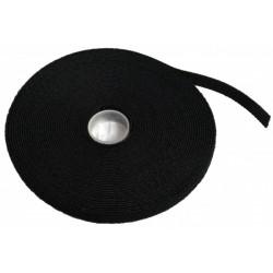 Стяжка-липучка, 12 мм x 10 м, моток, черная, EPNew