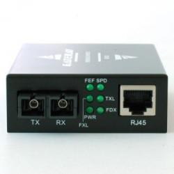 Медиаконвертер 100Мбит, SC 20км, передача 1550, приём 1310, Gateray GR-120Bz WDM