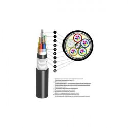 Кабель оптический ОБгПО 1,5кН 6 волокон с жилами питания ОБгПо-6А4(1х6+3)-1,5