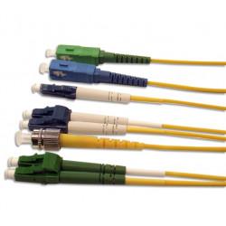 Патч-корд оптический дуплексный из патч-кордового кабеля, внутреннего применения. Длина 1,5м.