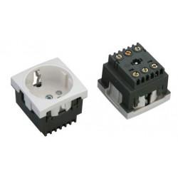 Модуль электророзетка 45*45 белая