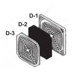 PB-08D 80x80мм Решетка пластиковая с фильтром