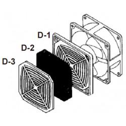 PB-17D 172x151мм Решетка пластиковая с фильтром
