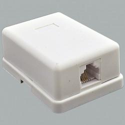 Розетка телефонная 1хRJ12 , белая