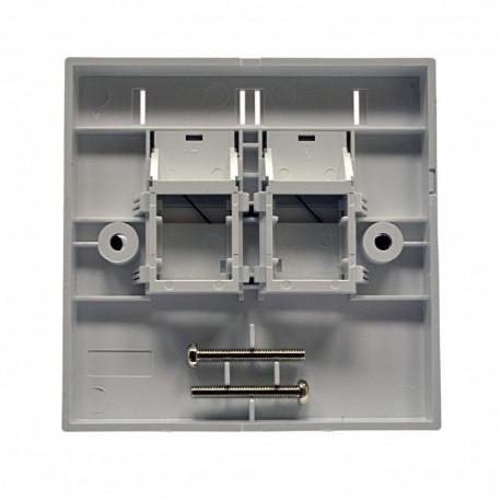 Рамка 86х86 под два модуля KeyStone, с шторкой
