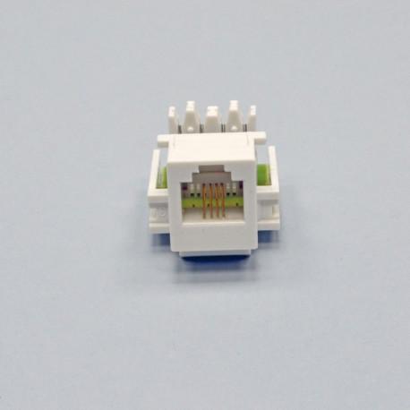 Модуль KeyStone RJ12, белый, Kingda
