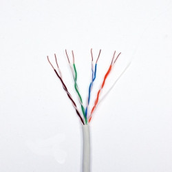 Витая пара кабель Panduit UTP, кат.5e, PVC, серый, 305м