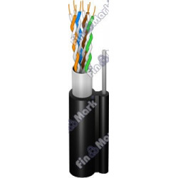 Витая пара кабель FinMark FinMark FTP кат 5е, PE, самонесущий черный, 305м