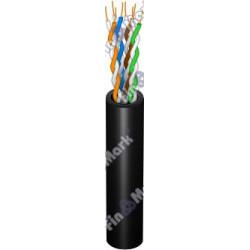Витая пара кабель FinMark UTP кат 5е, РЕ, черный, 500м