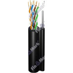 Витая пара кабель FinMark UTP кат 5е, РЕ, самонесущий черный, 500м